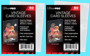 100-Ultra-Pro-VINTAGE-Sports-CARD-SLEEVES-NEW-Topps-Bowman-1952-56-Trading-Penny