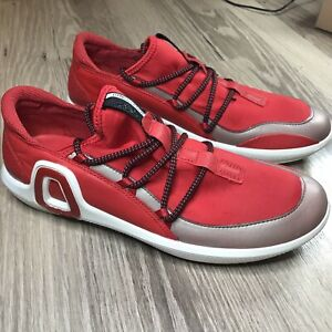 ecco danish design red casual slip on loafer driving