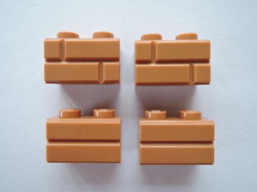 Lego 10 X del muro de piedra ladrillo 98283 Medium Dark bollos turrones 1x2 Artículo nuevo