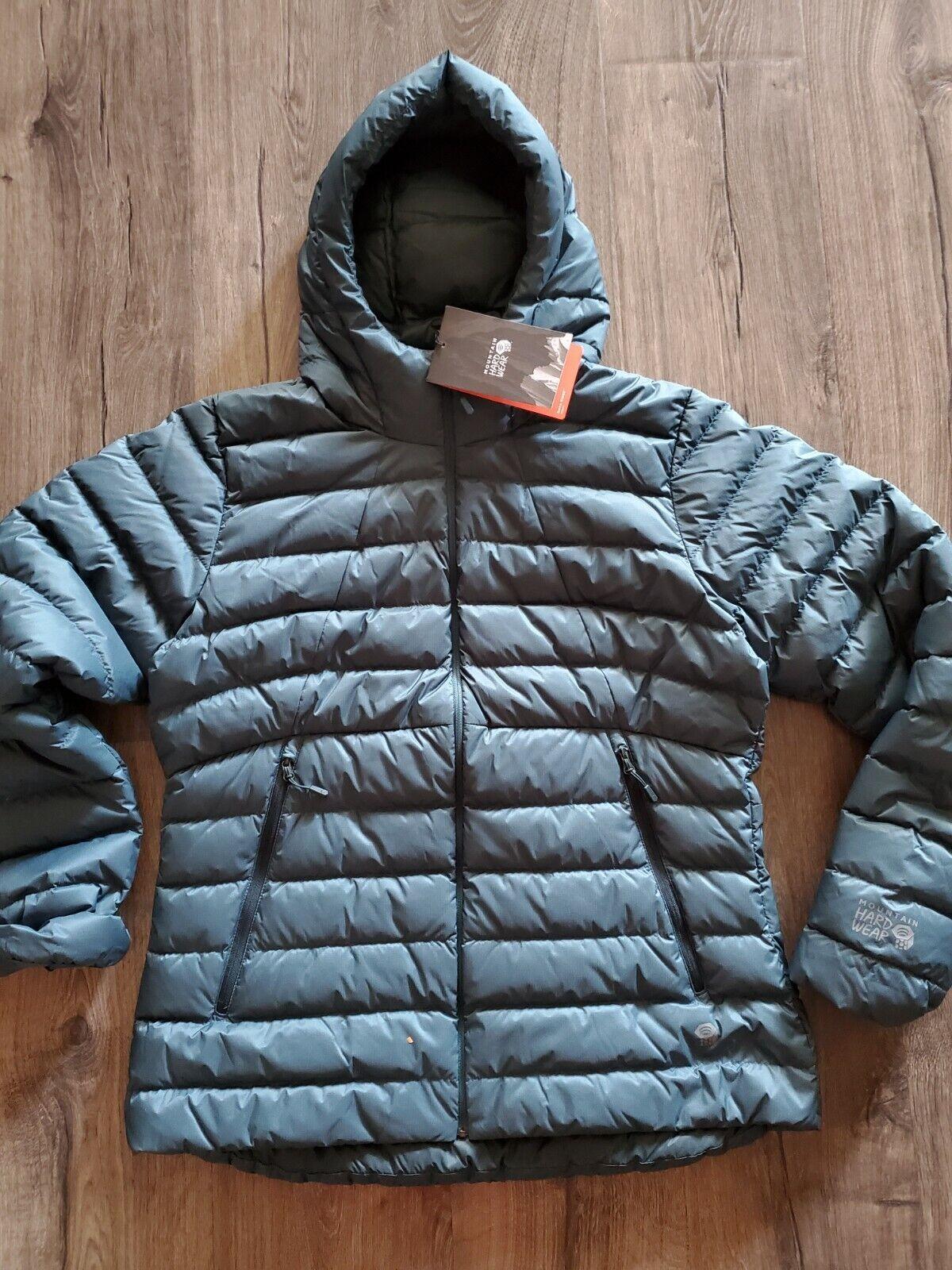 NWT Mountain Hardwear Rhea Ridge hoodie Down Jacket Women's Large 225