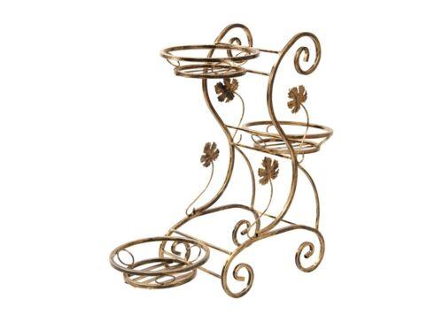 Blumenständer aus Metall Blumentopfhalter Blumensäule Blumentreppe Versanis 172