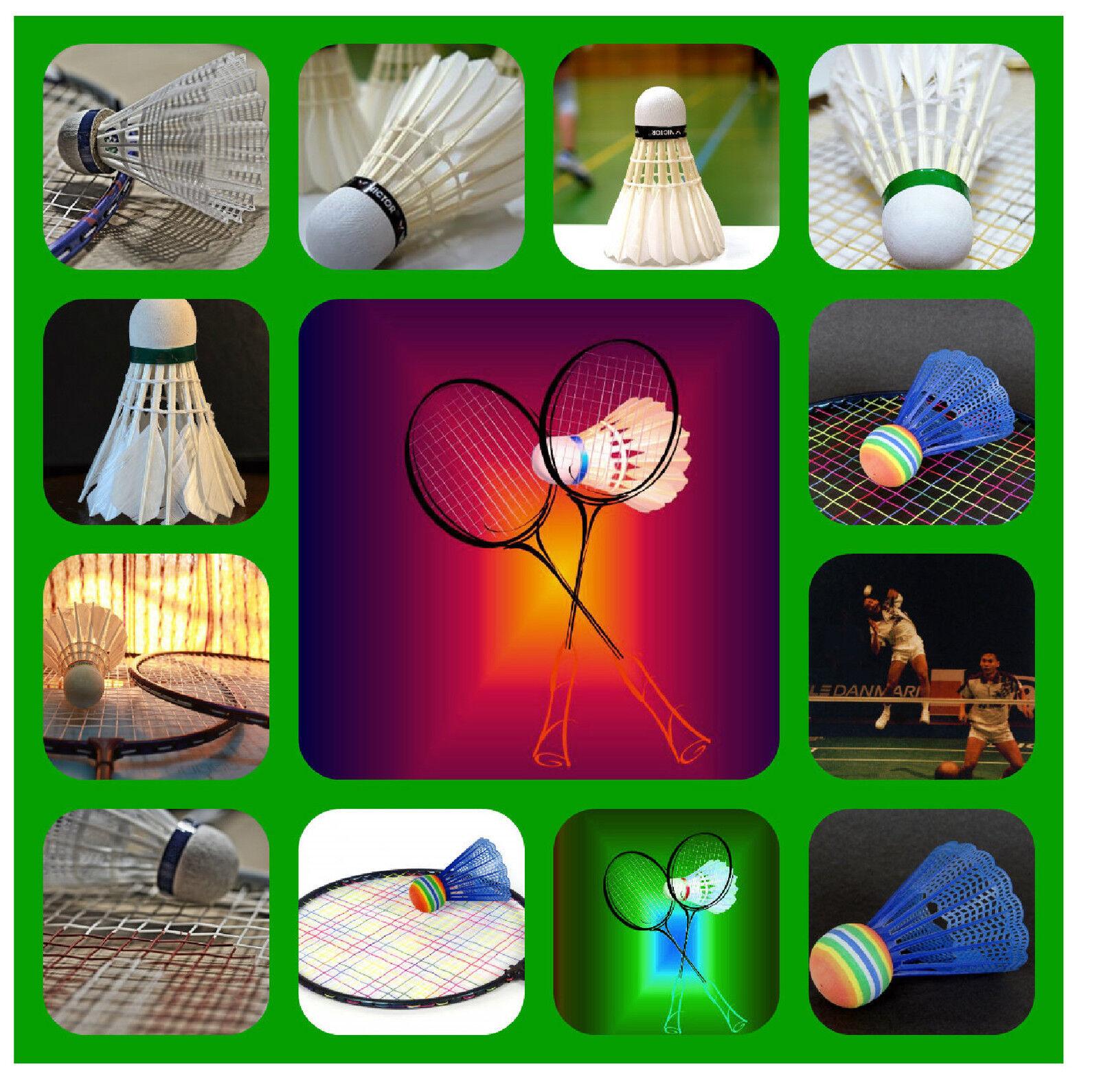 Badminton-souvenir Nouveauté facile sous-verres - facile Nouveauté à nettoyer-Nouveau-Cadeau / Noël / B / jour e42611