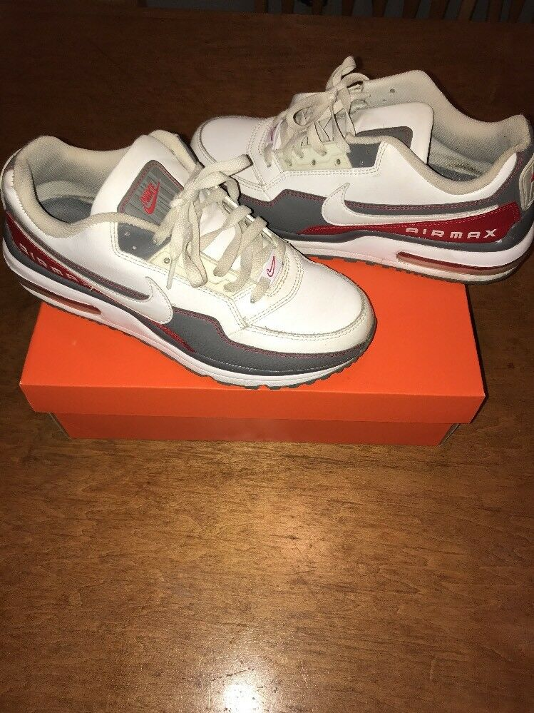 Nike Air Max LTD Size US 9White-Cool Grey-Sport Red