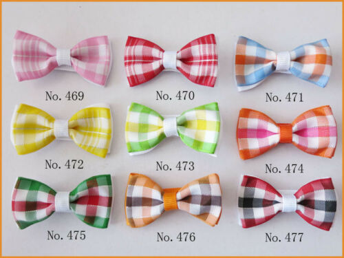 """50 BLESSING Good Girl Boutique 2/"""" Double Bowknot Hair Bow Clip Accessories"""