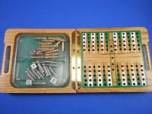 Folding Travel Backgammon Set Wood with Metal Pieces  NEAT!!
