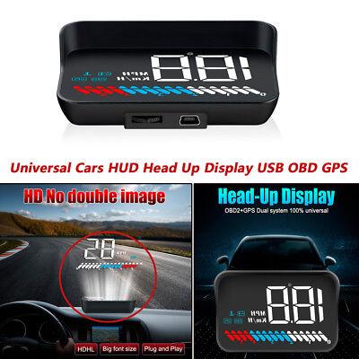 Car Hud Head Up Display Vehicle Obd2 Rv Speedometer Windshield Speed Projector Ebay