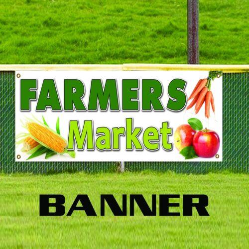 Farmers Market Vinyl Banner Sign Produce Fruit Vegetables Fresh Tomatoes Corn