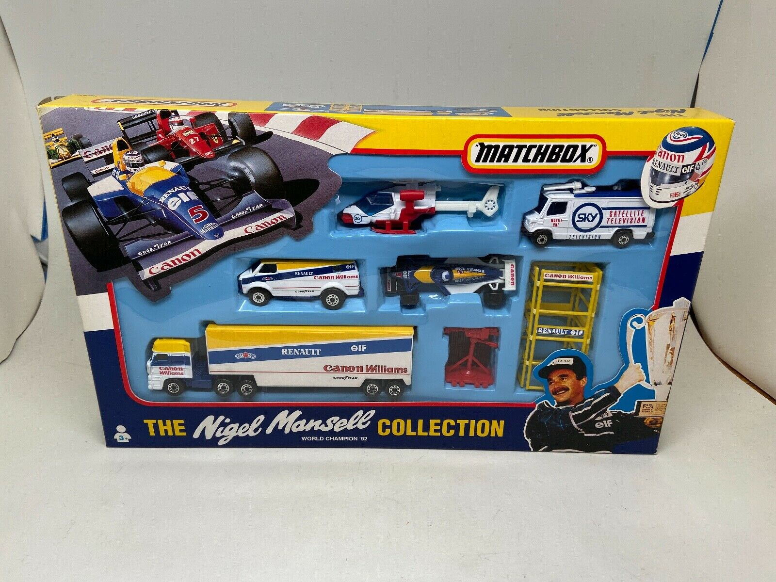 MATCHBOX-THE NIGEL MANSELL COLLECTION-WORLD CHAMPION 92(RENAULT)--1993-LOOK