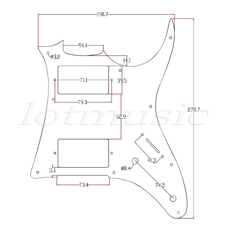 3 ply hh pickguard for ibanez grx20z electric guitar replacement white pearl