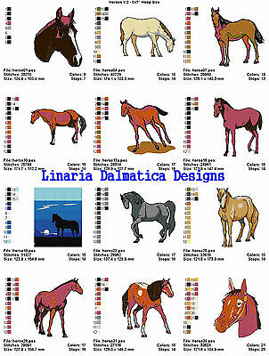 5X7 LD MACHINE EMBROIDERY DESIGNS HORSES VOL.3