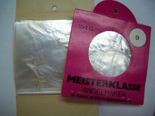 Größe 9 2x10 Stk goldfarbig Meisterklasse Angelhaken