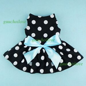 Fitwarm-Adorable-Polka-Dots-Dog-Clothes-Pet-Dress-Cat-Shirt-Party-Apparel-Skirt