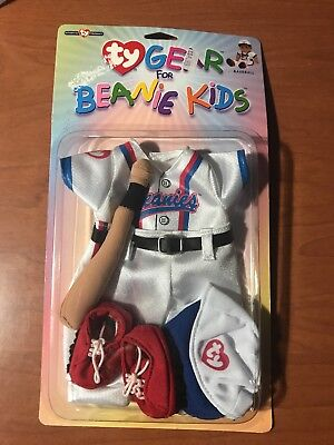 Baseball Outfit Shoes TY GEAR for BEANIE KIDS * BASEBALL APPAREL * Bat Cap