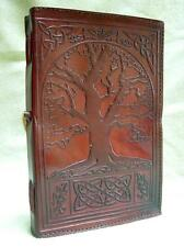 A5 Handmade Leather Journal Diary  Book-of-Shadows - Celtic TREE of LIFE