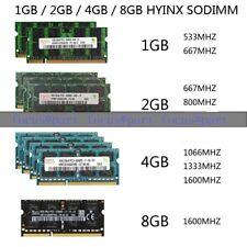 LOT 8GB 4GB 2GB For Hynix PC2-5300//6400 1066 1333MHZ Laptop Memory DDR2 DDR3 RAM