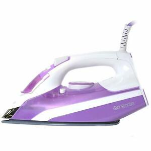 Brabantia-2400W-Electric-Steam-Iron-Ceramic-Soleplate-Self-Cleaning-In-Purple