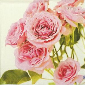 4x Paper Napkins for Decoupage Decopatch Craft Pink Roses | eBay