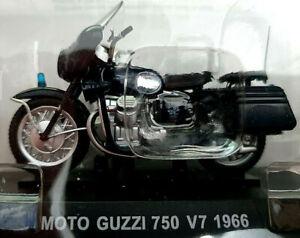 Moto-Guzzi-750-V7-1966-Carabinieri-Scala-1-24-Die-Cast-Atlas-Nuova