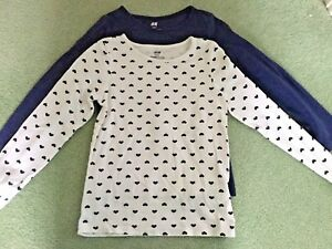 Two-H-amp-M-Girl-039-s-Long-Sleeved-Tops-Aged-4-to-6-years
