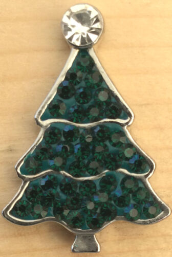 Snap Chunk Button Green Christmas Tree Charm For Ginger Snap Style Jewelry #