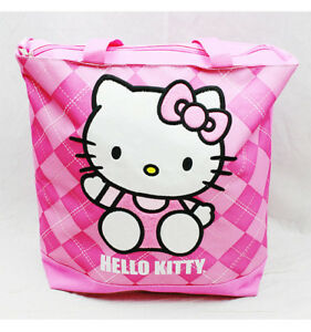 9164b9aeff0a Tote Bag - Hello Kitty - Pink Checker New Gifts Girls Hand Purse ...