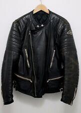 VINTAGE Germot Padded Leather Biker Jacket Size 56 Schott Perfecto Cafe Racer