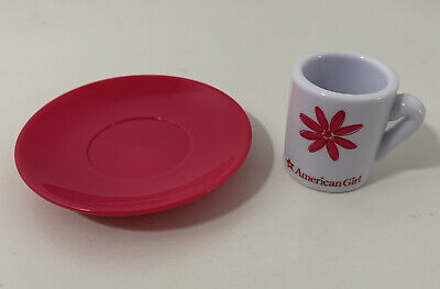 "Lot of 2 pink Cup Accessories Fit For 18/"" American Girl dolls 99/%NEW #K1"