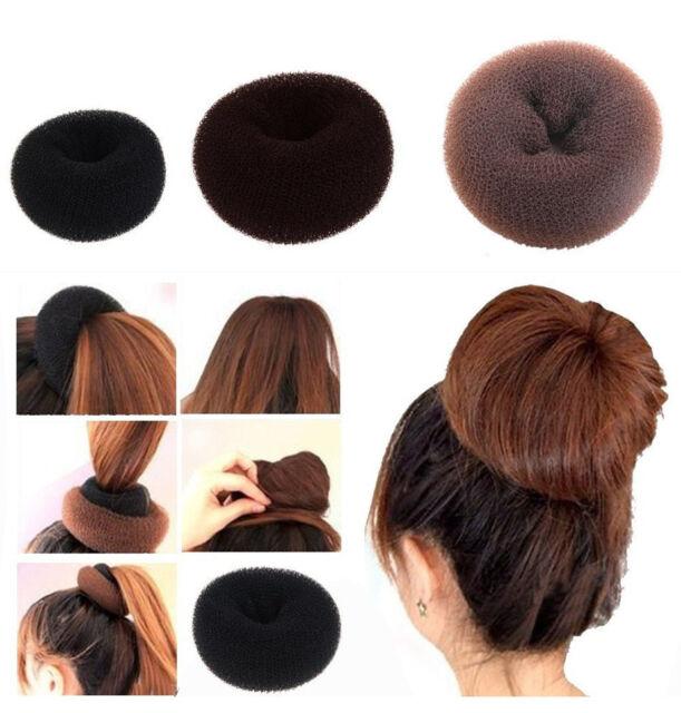 Girls Sponge Hair Styling Tool Bun Maker Ring Donut Shaper Hair Styler womens