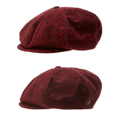 Unisex Mens Mqum Hound Tooth Check Flat Cap Newsboy Baker Boy Cabbie Gatsby Hats