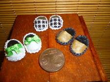 3 mal Pantoffeln 1/12 Puppenhaus Laden Puppenstube Zubehör Hausschuhe