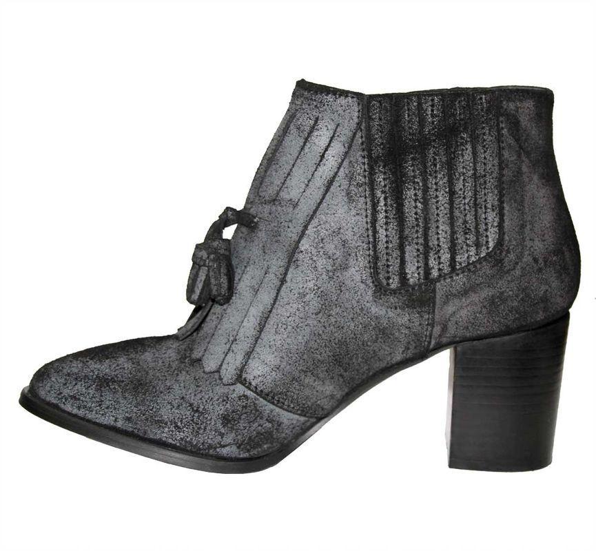 Heine Damen Stiefelette, anthrazit Günstige und gute Schuhe