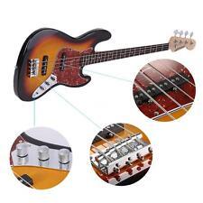 ammoon Electric Jazz Bass Guitar 4 String 24 Frets Basswood Body Sunburst G4V0