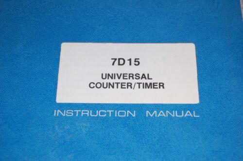 Test Equipment Manuals & Books Tektronix 7D15 Counter/ Timer ...
