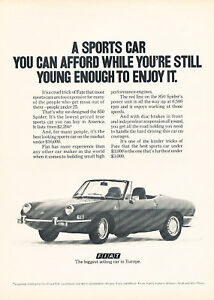 1970 Fiat 850 Spider draw Vintage Advertisement Ad P55