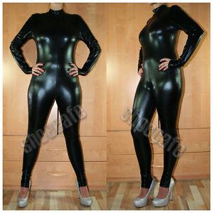 Clubwear-Wetlook-Catsuit-Overall-schwarz-metallic-Stretch-NEU-Starlite
