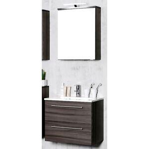 Badezimmermobel Eiche 60cm Waschtisch Spiegelschrank Set Badmobel