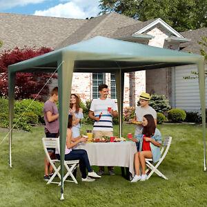 9x9ft Party Gazebo Tent Outdoor Sunshade Portable Sunshade Dark Green