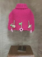 Bellini Fuschia Bright Pink Wool Poncho Capelet Sweater Italy 4 5 6