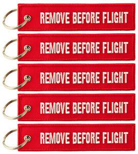 REMOVE BEFORE FLIGHT ™ Keyring Keychain 5x