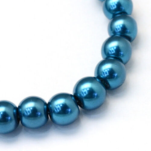 """- Pick the color 210 pcs 4mm Glass Pearl Imitation Round Beads 32/"""" Strand"""