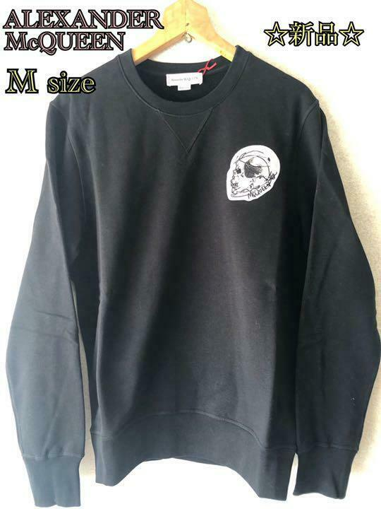 Alexander McQueen Authentic Sweatshirt Black Size M New Unused from Japan