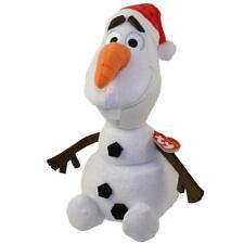 "MWMT 12"" Ty Sparkle Plush Olaf Disney Frozen Snowman Santa Christmas Beanie Budd"