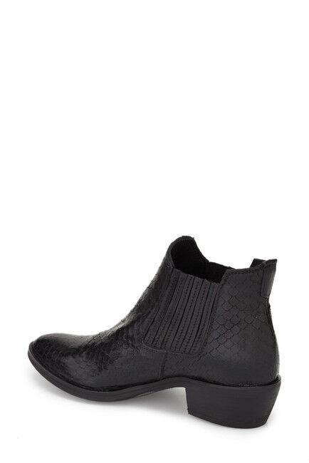 Nuevo Pitón  239 KBR lo 2010 Negro Con Textura Pitón Nuevo Western Chelsea bota, Talla EU-35 US 5 M b74d42