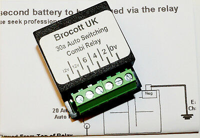 FORD TRANSIT SELF SWITCHING, VOLTAGE SENSING SPLIT CHARGE RELAY - 12V, 30  AMP | eBay | Split Charge Wiring Diagram |  | eBay