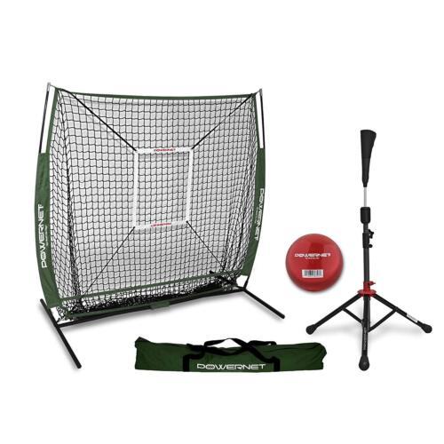 Strike Zone Training Ball Team Colors PowerNet 5x5 Practice Net Tee