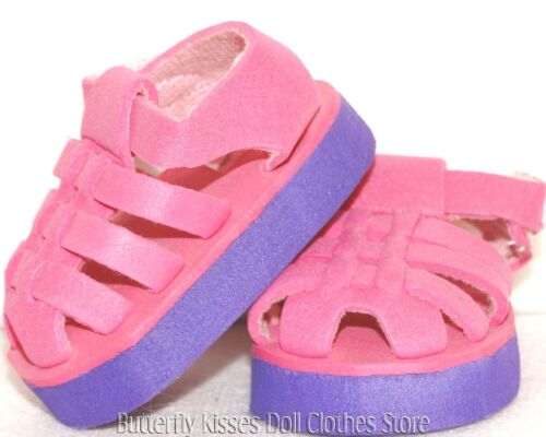 Fisherman Sandals Purple/Pink 18 in Doll Clothes Fits American Girl
