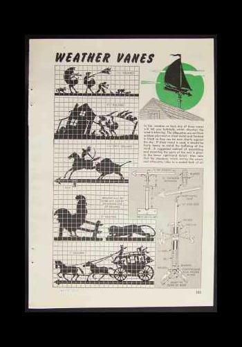 Weathervane Sheet Metal / Plywood HowTo PLANS 6 Designs