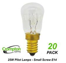 2 x Crompton Lamps E14 Small Edison Screw 25w Pygmy Straight Clear Light Bulb