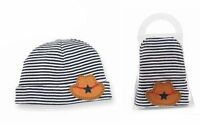 Mud Pie Baby Boy Hat Blue And White Striped With Cowboy Hat Applique