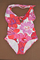 Marie Claire Women's Push Up Triangle 1-piece Floral Swimsuit Size 8